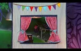 Thalita Carvalho ensina o passo-a-passo de uma linda cortina para as crianças brincarem de teatro de fantoche.