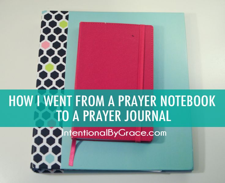 How I went from a prayer notebook to a prayer journal!                                                                                                                                                                                 More