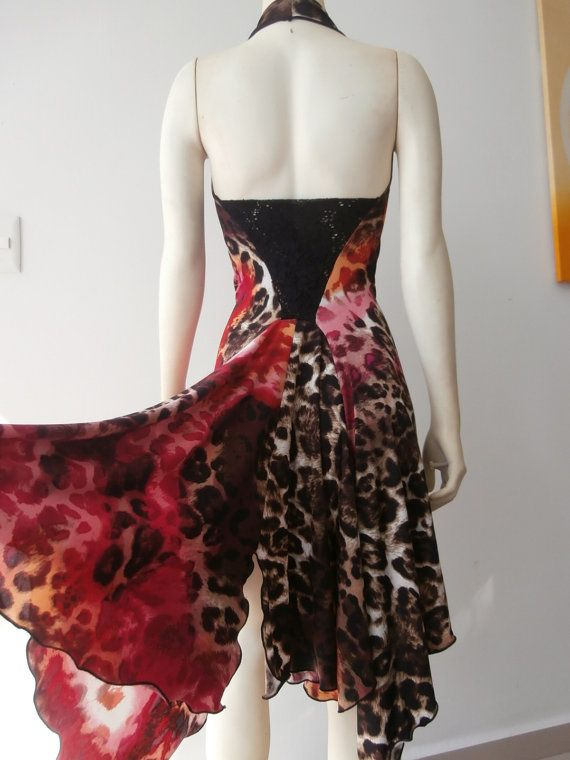 Milonga Tango Dress / Salsa with high Slit by COCOsDANCEWEAR