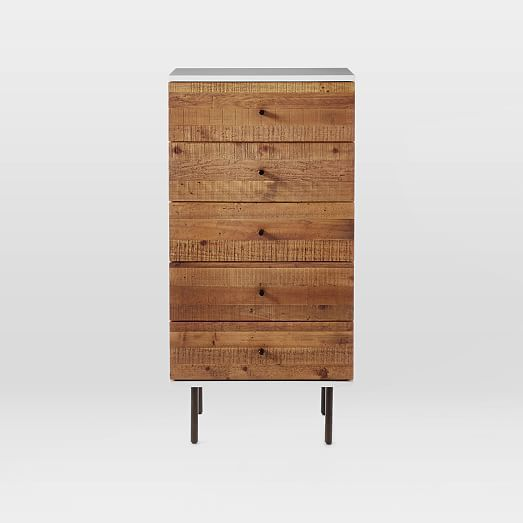Reclaimed Wood + Lacquer 5-Drawer Dresser | west elm $1299