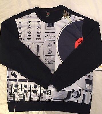 New! Enyce Sean Combs New York 4xl DJ Turntable Sweatshirt Shirt Long Sleeve