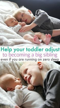 How to help your toddler adjust to being a big sibling. If your toddler is acting out or throwing tantrums since the new baby was born these tips will help ease the transition.