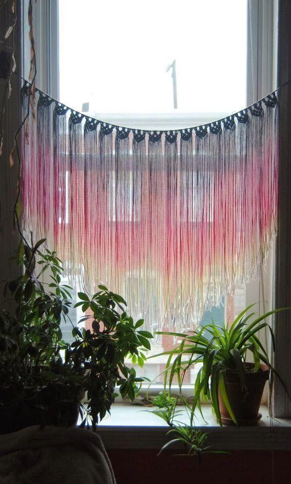 Bohemian Homes: Macramé window hanging,