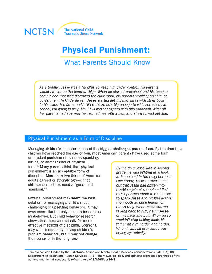 Physical Punishment: What Parents Should Know
