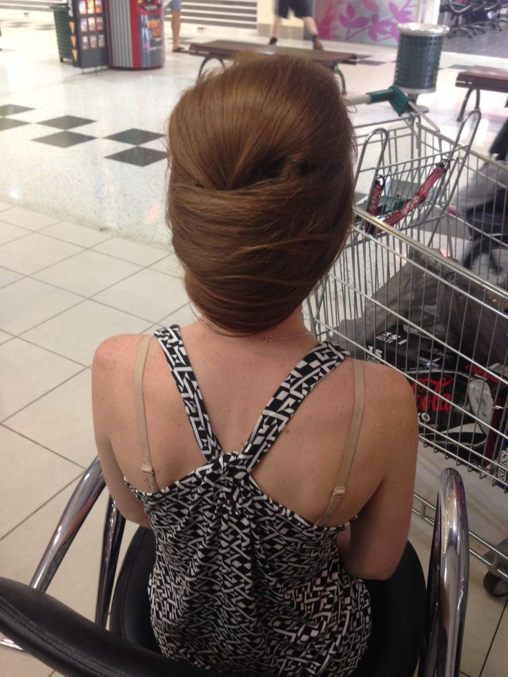 Engagement party hair!