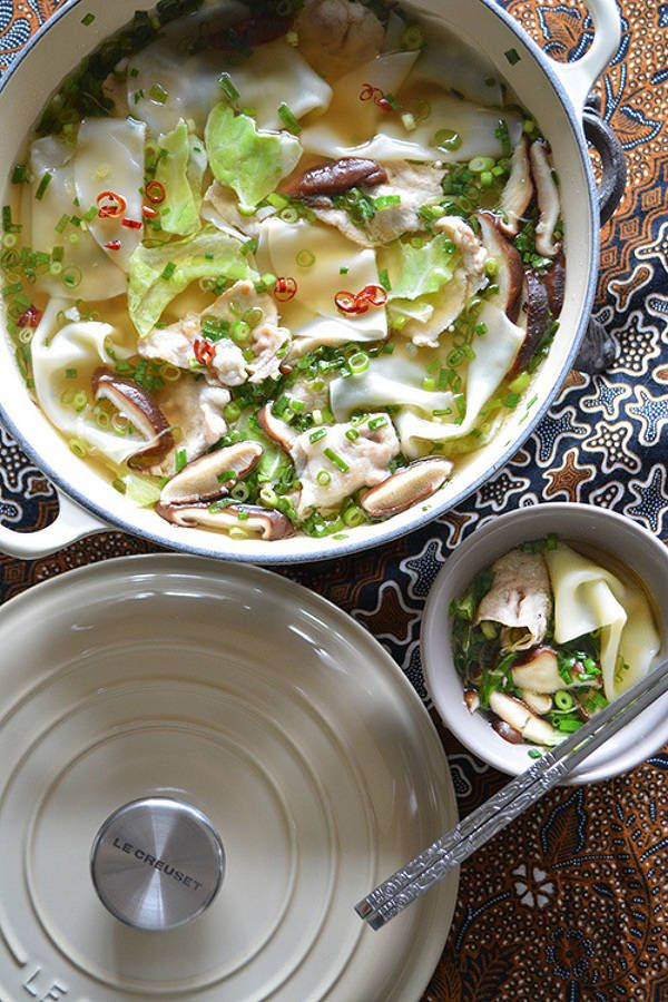 白だしで作る餃子スープ