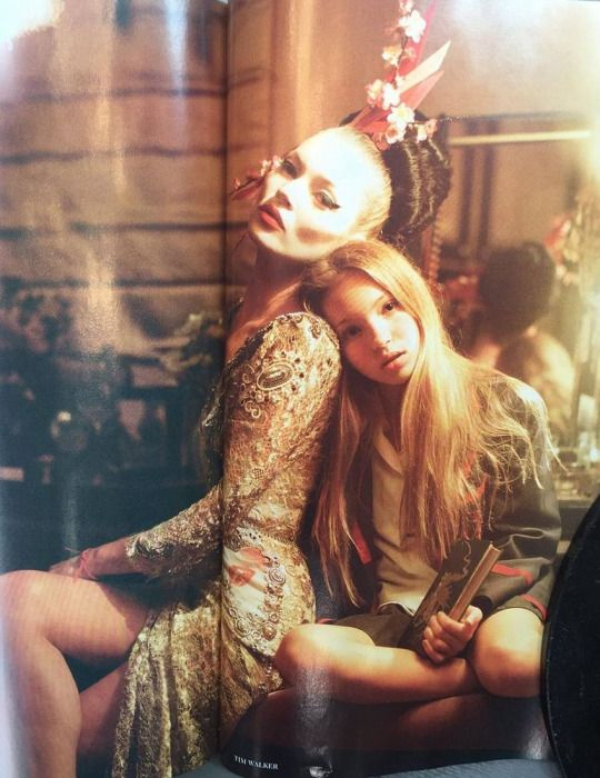 Kate Moss and her daughter Lila by Tim Walker for British Vogue (via William…