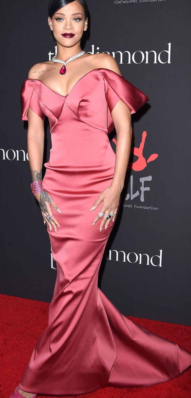 Rihannas Red Carpet Style - In Zac Posen 2014 - from ...