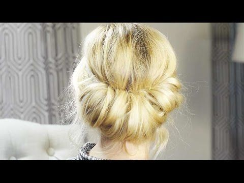 Low Rolled Updo Hair Tutorial - YouTube