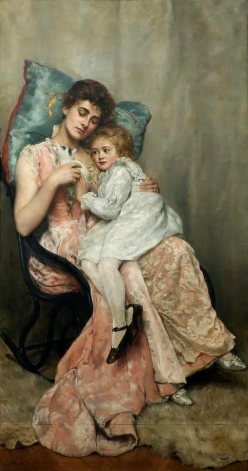 john collier, painter | nettie and joyce ca 1890