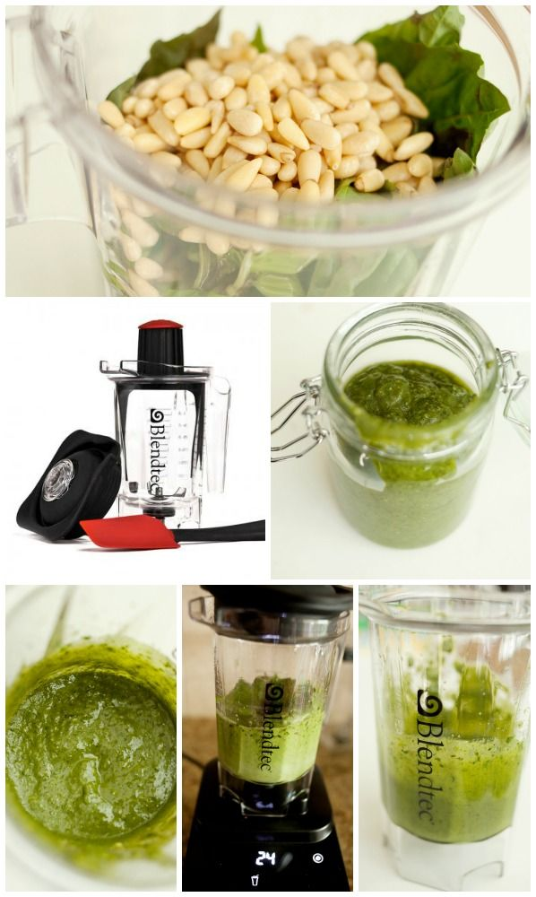 Homemade Super Easy Pesto Sauce from Capturing Joy (Let's See If My Cheap Blender Will Work With This Recipe!)