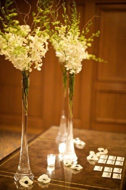 tall skinny flower arrangements- like these vases better ...