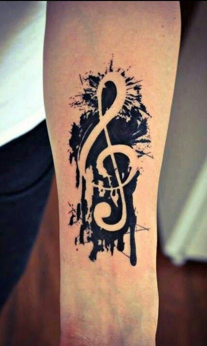 Tatuagens no Antebraço | clave de sol