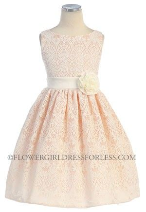 Girls Dress Style 437- Sleeveless Lace Dress