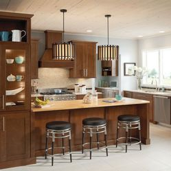 Best Mission Cherry Chocolate Lowe S Cabinets Kitchen 400 x 300