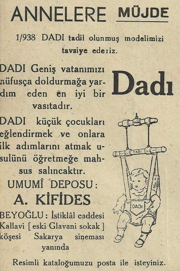 """Bebek hoppalası """"Dadı""""  Umumi deposu : A. Kifides, Beyoğlu."""