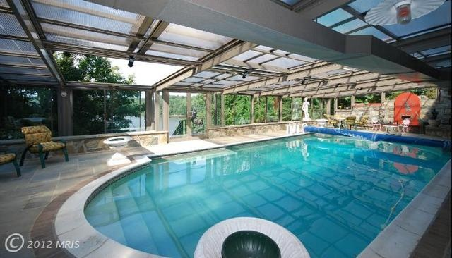 Pin by max on pools pool stuff pinterest for Indoor pool with retractable roof