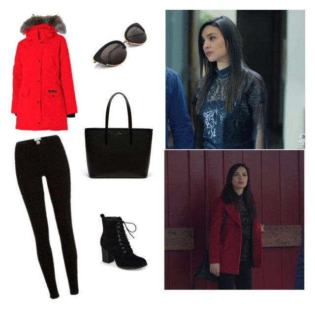 Zinab kara sevda style by maysali on Polyvore featuring polyvore, fashion, style, River Island, Journee Collection, Lacoste, Canada Goose and clothing