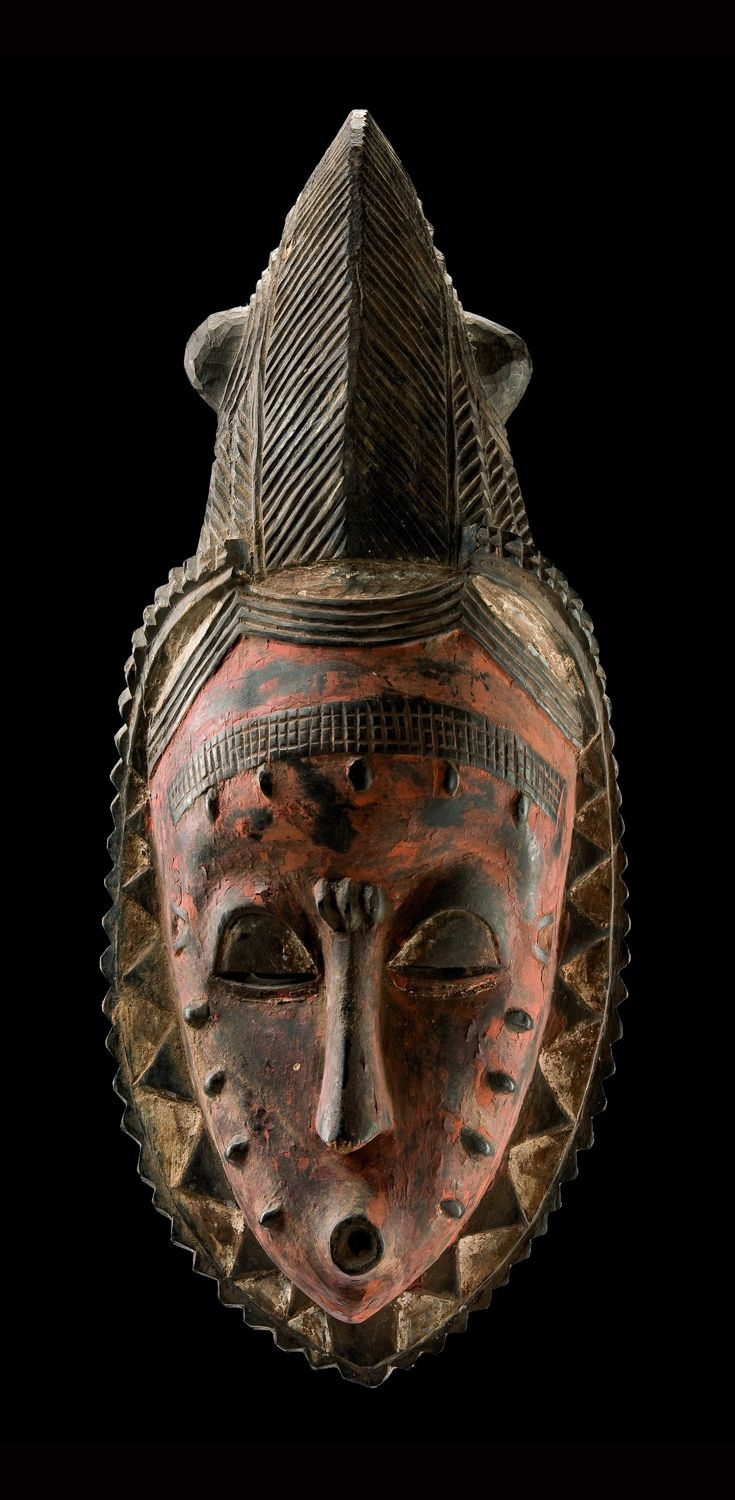 "Africa | Female face mask ""gu"" from the Guro people of Ivory Coast 