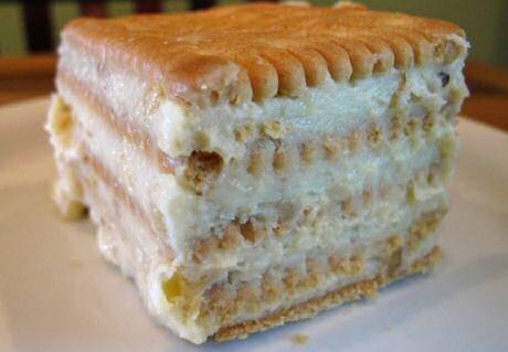 Makkelijk recept om met de kinderen een petit beurre taart of taartjes te maken zonder bakken