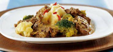 Rundvleescurry met bloemkool en broccoli