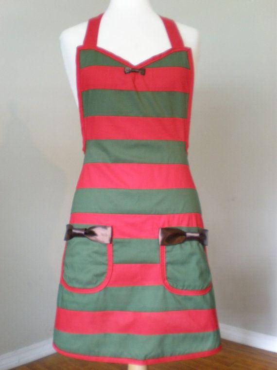 Freddy Krueger inspired costume apron by HauteMessThreads on Etsy, $60.00