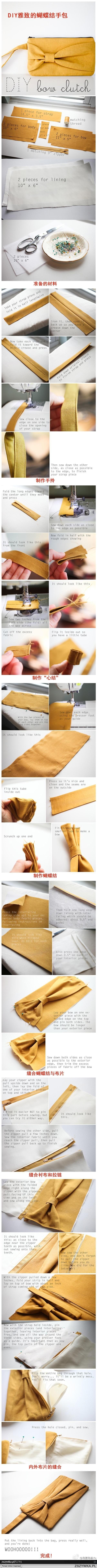 torebka kopertówka DIY