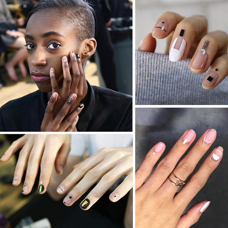 """【New Hot Nail Trend 2016 - Shadow Nails】 In 2016 New York Fashion Week, Korean nail artist Unistella placed metallic tabs on the models' cuticles and the beauty world went wild. Embellished cuticles, also known as """"shadow nails,"""" are a minimalist look that have a big impact. They — quite l"""
