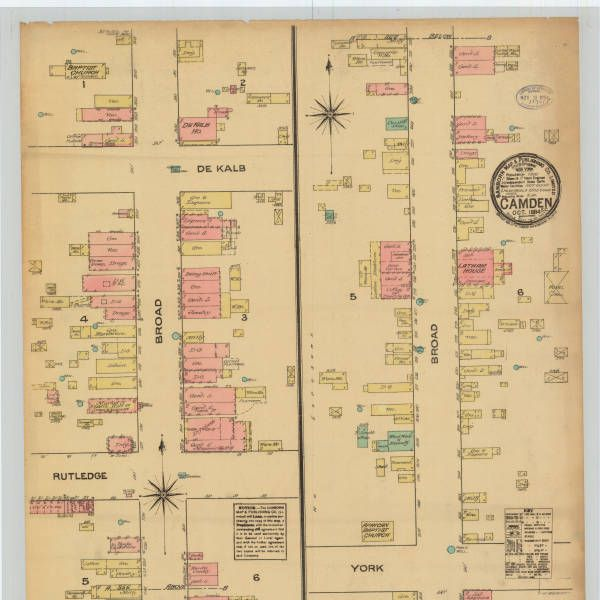 Digitized historic Sanborn Fire Maps are available from the Digital Public Library of America...a tremendous resources for free digitized maps which work beautifully with Google Earth. Learn more about how to use Google Earth for Genealogy at http://www.google4genealogy.com Show here: Camden, 1884