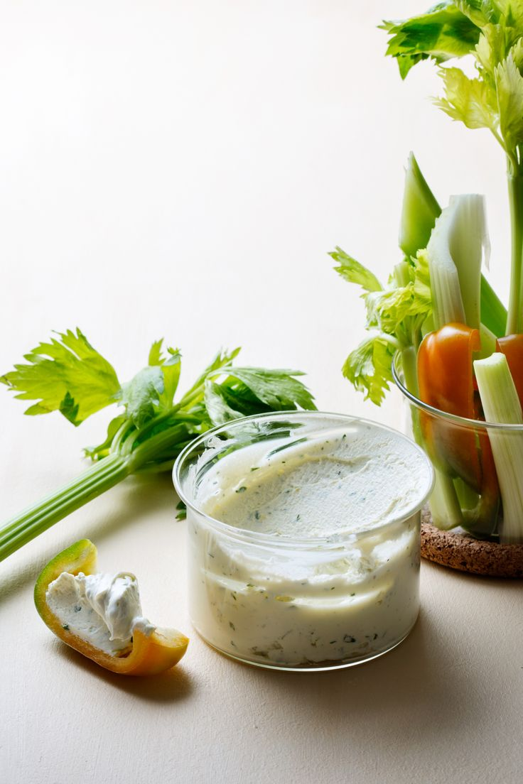 It's super easy to make your own flavored low-carb cream cheese. Just mix non-flavored full-fat cream cheese with your favorite spices. Here, I chose fresh herbs, a little garlic and lemon zest.