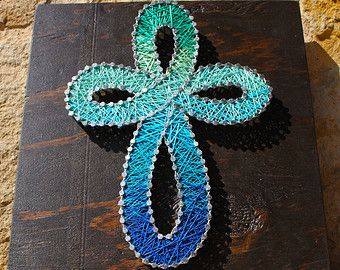 "Cross String Art 12""x12"""