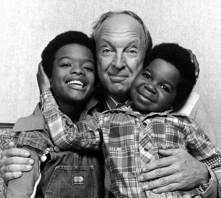 NBC TV :: Todd Bridges and Gary Coleman with Conrad Bain, 1978
