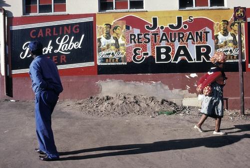Zamalek street life | Carling Black Label beer branding | South Africa | Source: http://nativethoughts.tumblr.com/post/40811423300