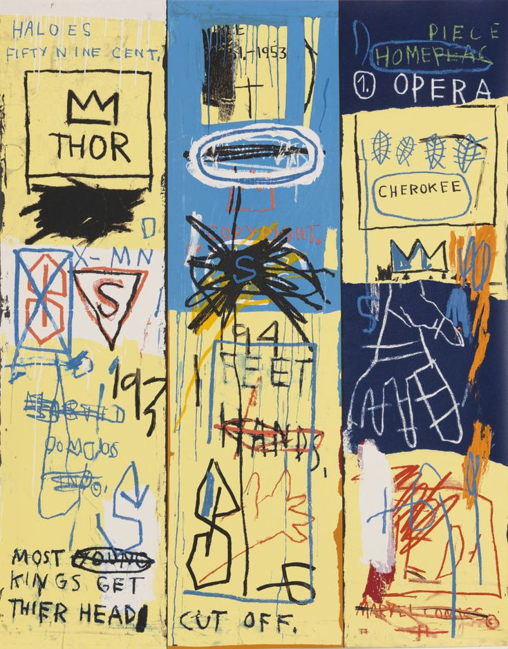 Contemporary and Pop Art (With images) Basquiat art