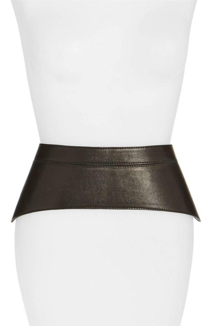 Main Image - Raina 'Peplum' Leather Corset Belt