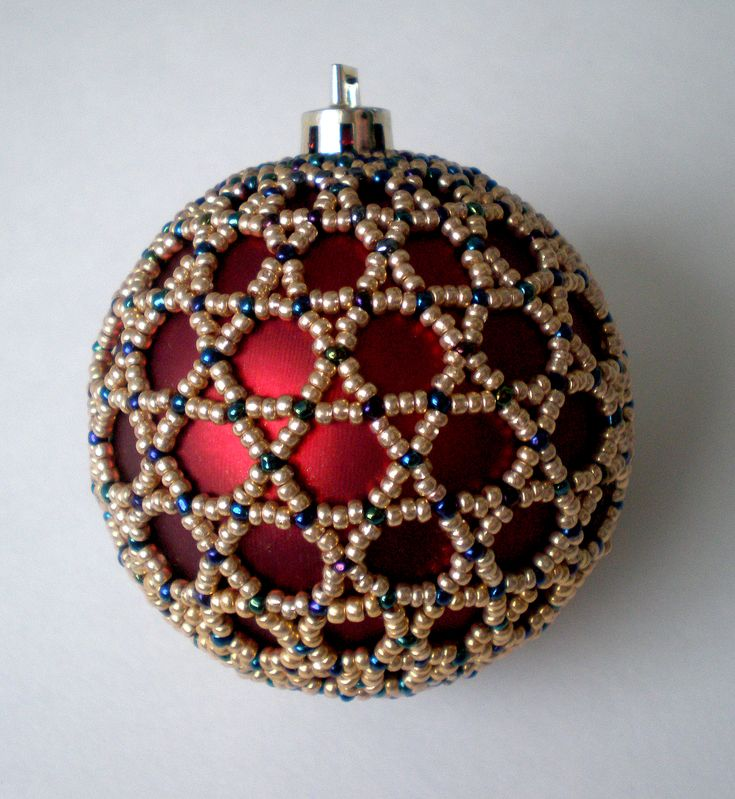 Bead overlay for ornaments