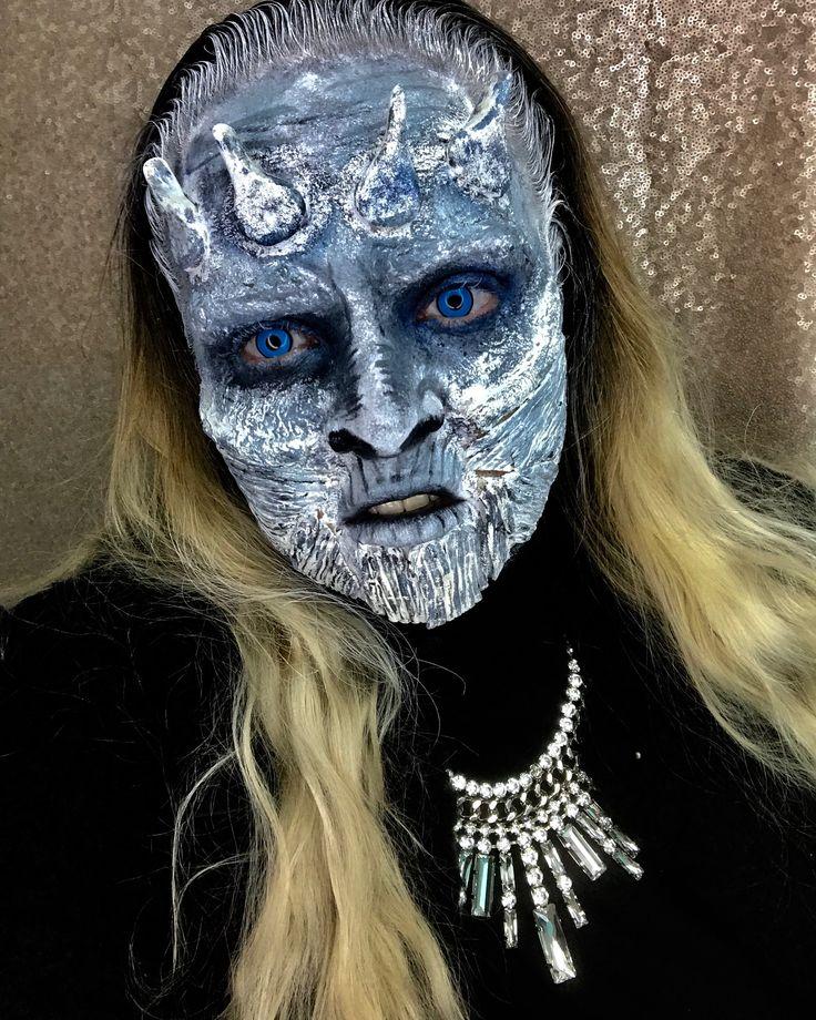 Game of Thrones White Walker Halloween Makeup Halloween