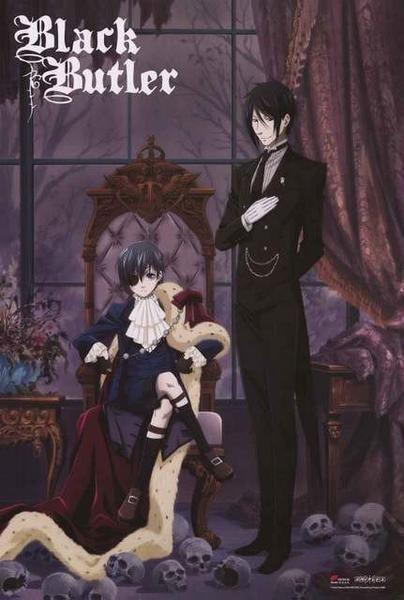 Black Butler Ciel and Sebastian Poster 24x36Mia GH