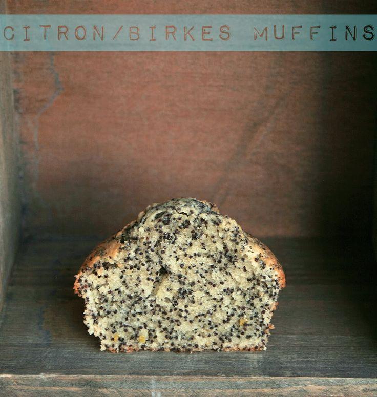 citron og birkes muffins med marcipan
