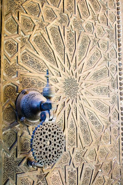 Moroccan Door and Knocker. Picture by Christopher Rose.