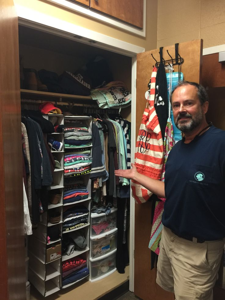 Dad Is Proud Of Her Organized Closet  A Rare Site! Dorm Room ChecklistDorm  ... Part 69
