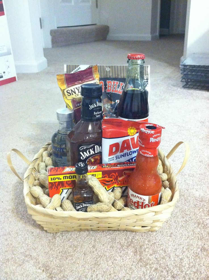 """Man Baskets"" as groomsmen gifts"