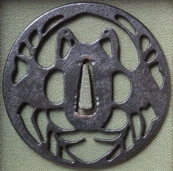 S-45 夫婦鶴の図(大) 85×85×3.5 / 77g