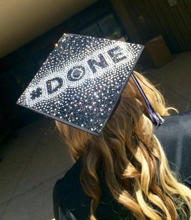My 2015 graduation cap. Original, my idea, done, rhinestones, black glitter, grad cap, graduation, senior, decorated grad cap, sparkly grad cap