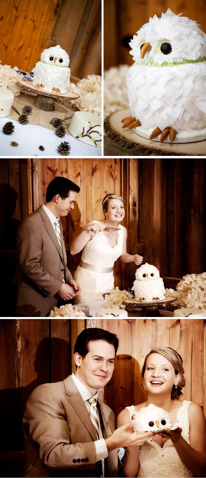 Cutest owl wedding cake ever!