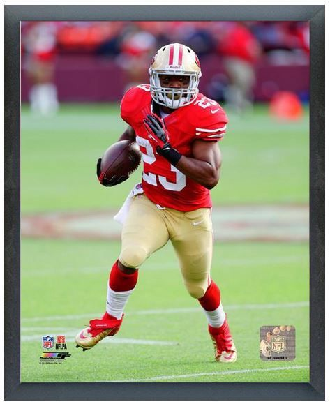 "LaMichael James 2013 SF 49ers - 11"" x 14"" Photo in a Glassless Sports Frame"