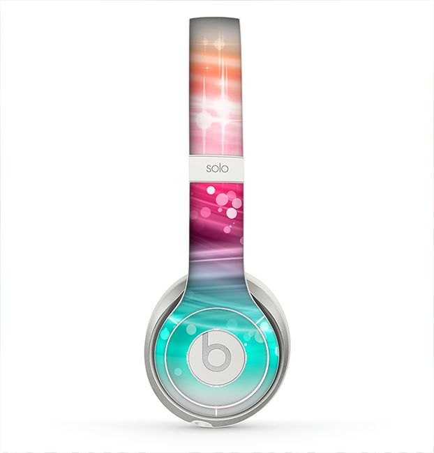 The Vibrant Multicolored Abstract Swirls Skin for the Beats by Dre Solo 2 Headphones from Design Skinz, INC.