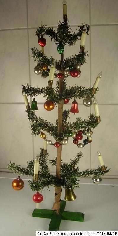 Fancy Antiker Sch ner Weihnachtsbaum Lauscha cm