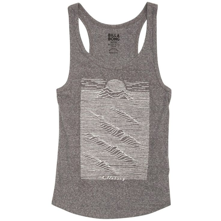 J462DMOODAG Billabong Moon Stones Women's Dark Athletic Grey Tank Top