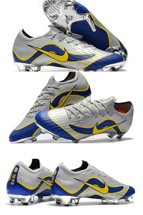 c8a0942517 ike Mercurial Vapor XII Elite FG Firm Ground Cleats - Silver Blue Yellow